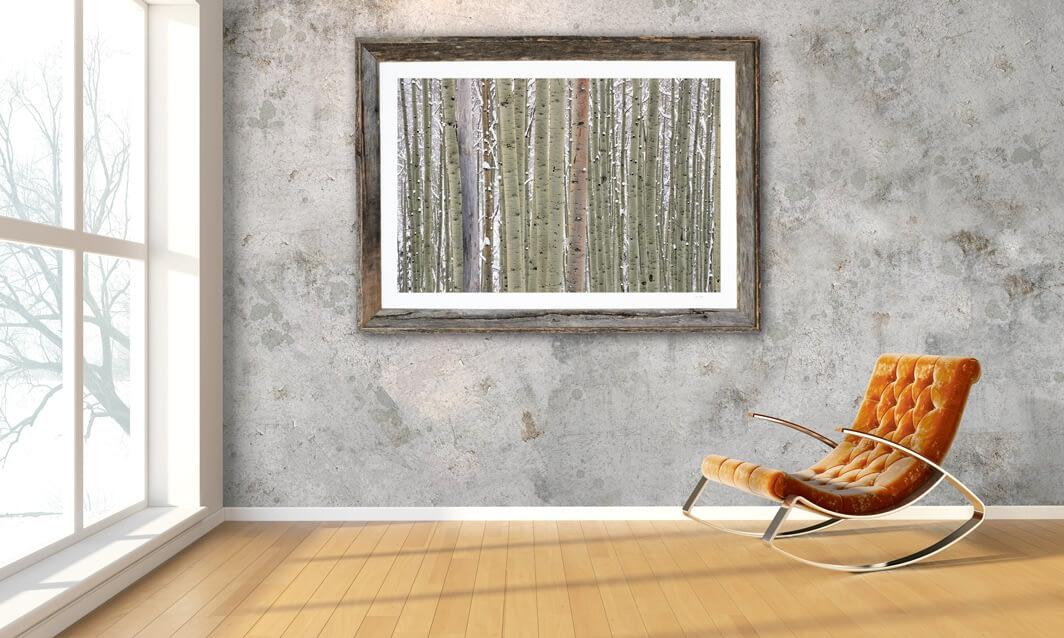 Framed print of Ilium hanging on wall.