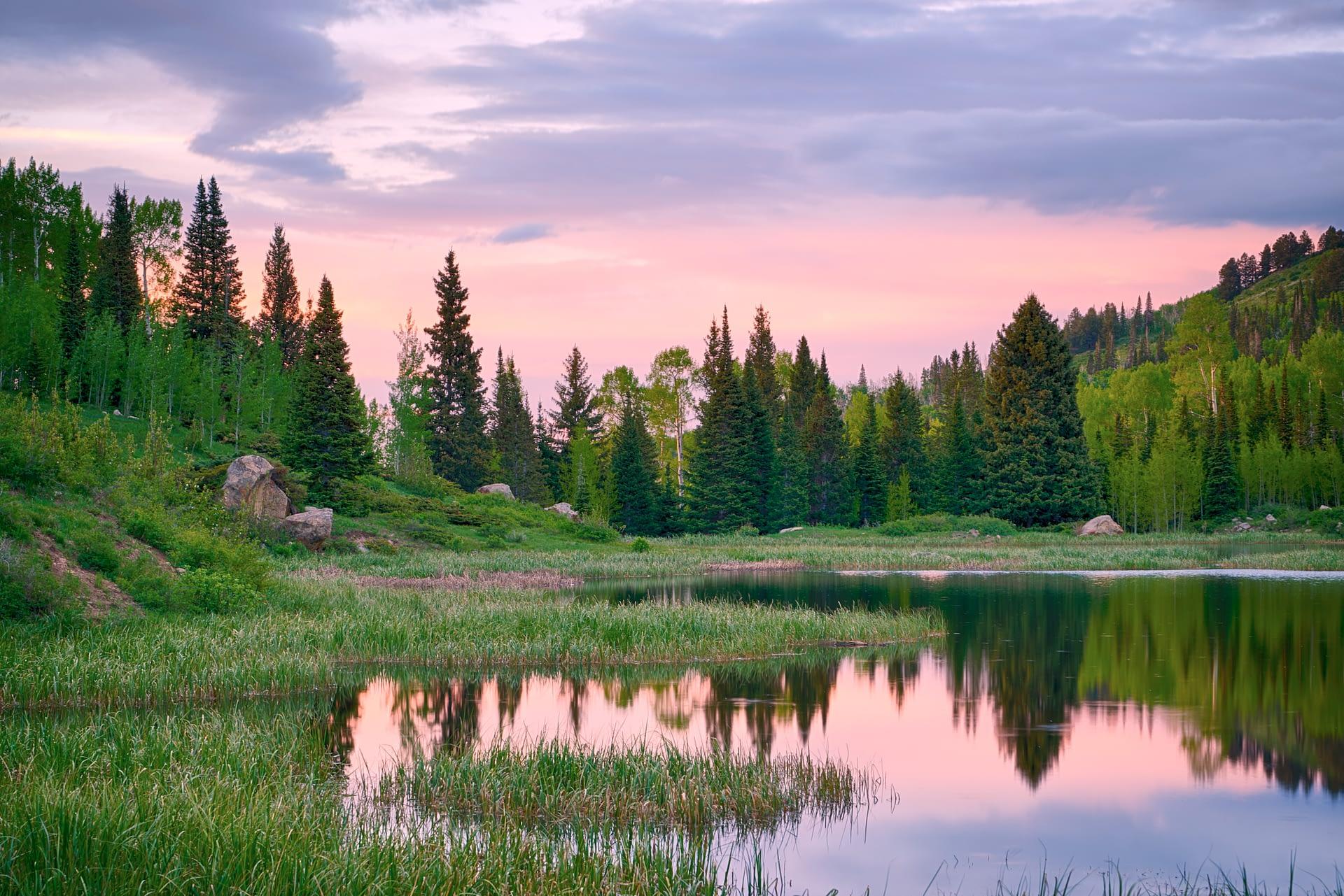 Sunset at Lake Ridge Lakes on the Thompson Divide