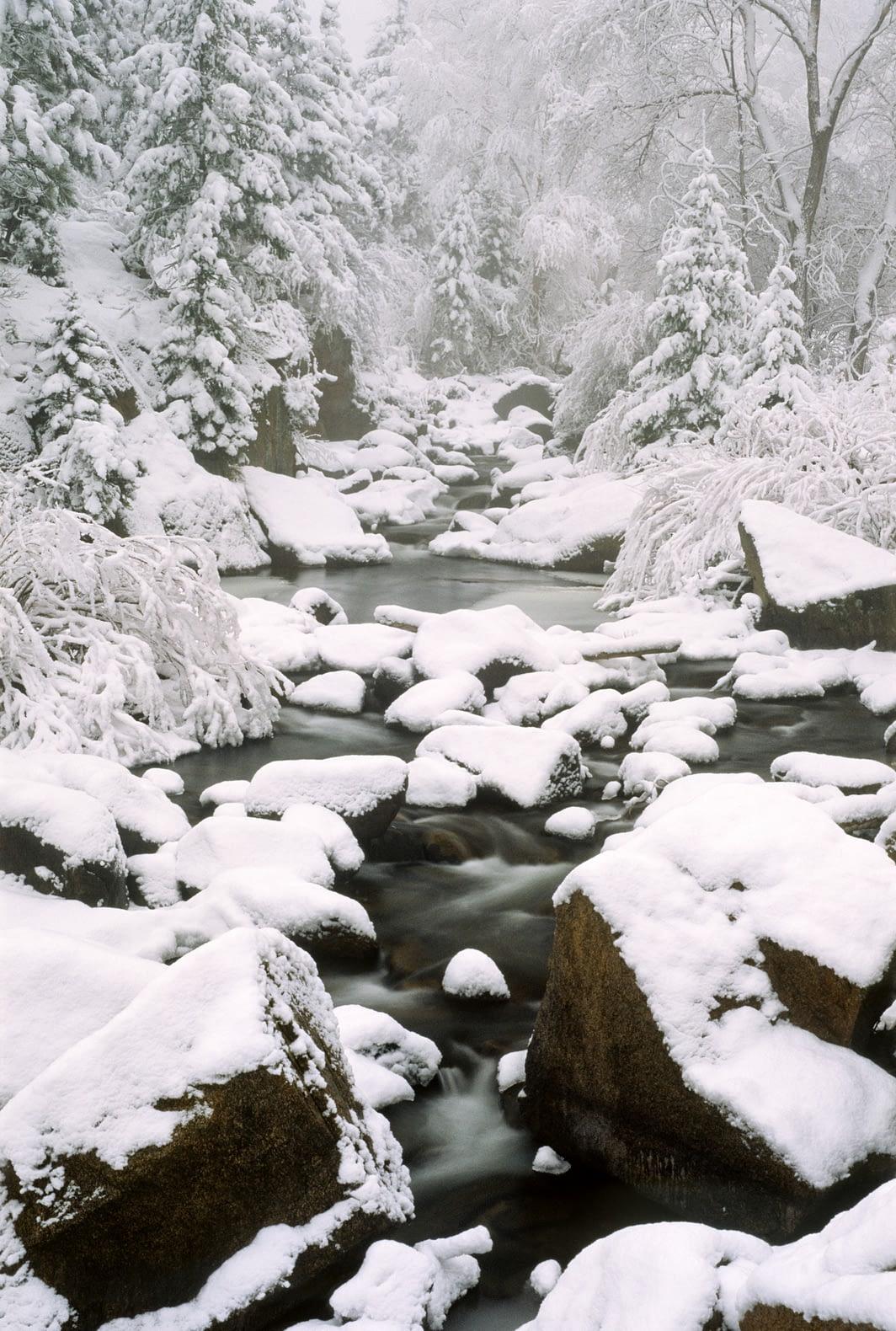 South Saint Vrain in Snow
